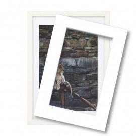 Wissellijst met passe partout 40x60cm hout wit