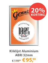 Kliklijst Aluminium ABRI 32mm