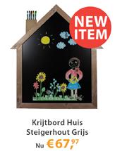 Krijtbord Huis Steigerhout