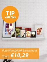 Foto Wandplank Steigerhout