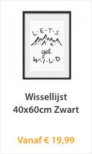 Wissellijst 40x60cm Zwart